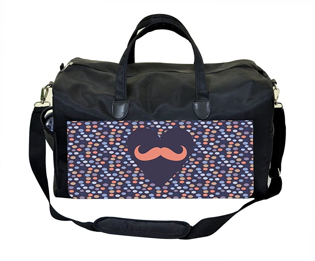 Heart Mustache Dots Pattern Gym Bag