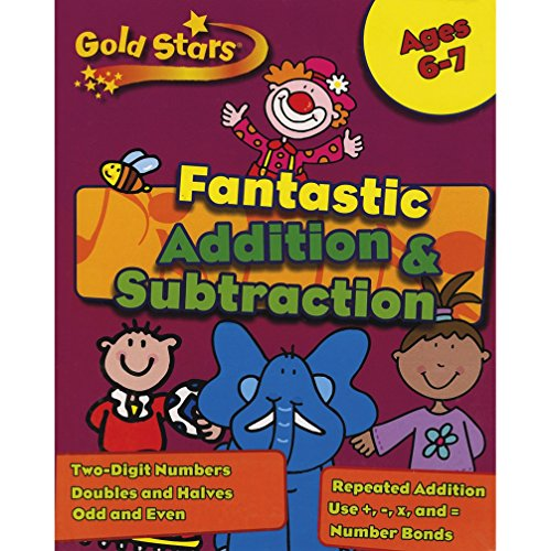 Gold Stars KS1 Addition and Subtraction Workbook Age 6-7 (Gold Stars Workbook Packs)