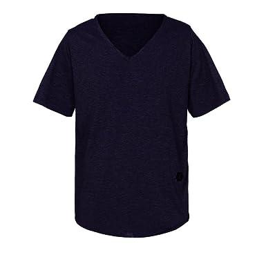c545cdd4ad35d1 VEMOW Sommer Männer Mode Täglichen Außerhalb T-Shirt Slim Fit V-Ausschnitt  Kurzarm Muscle Cotton Casual Tops Bluse Shirts Pullover  Amazon.de   Bekleidung