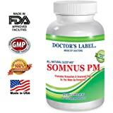 Somnus PM Sleep Supplement, Natural, Herbal Sleep Aid, OTC Sleep Medication, Supports Stress, Relaxation and Sleep, 60 Vegetarian Capsules