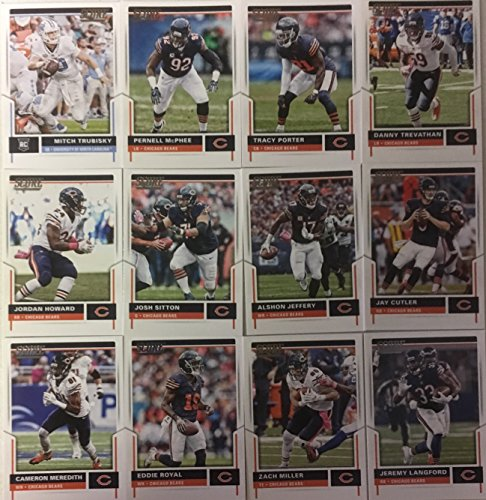 2017 Panini Score Football Chicago Bears Team Set 12 Cards W/Rookies Mitchell Trubisky Rookie Card (Score Set Team)