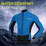 Lixada Men's Cycling Jersey Suit Waterproof Thermal Fleece Long Sleeve Mountain Bike Riding Softshell Jacket with Padded Pants Trousers