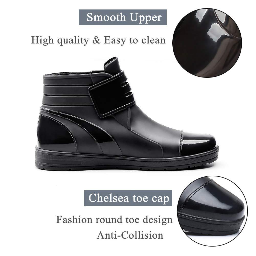 YOOEEN Womens Rain Boots Short Rubber Boot Waterproof Work Garden Shoes Anti-Slip Outdoor Ankle Wellies