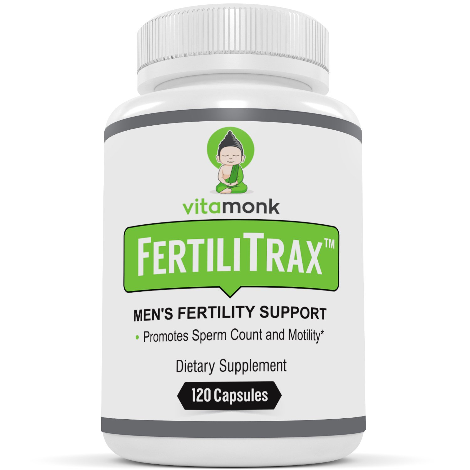 FertiliTraxTM Men's Fertility Support - Fertility Blend for Men by VitaMonkTM - Effective Natural Supplements Formula to Aid Healthy Fertility for Males - 120 Capsules - Natural Supplement by VitaMonk