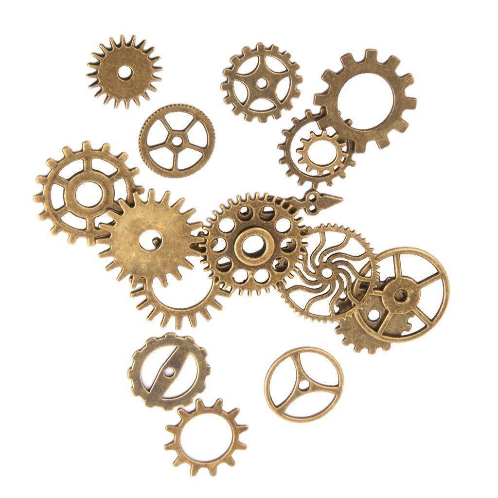 Ogquaton Aleaci/ón de engranajes mec/ánicos Retro Steampunk Plating Gears DIY Decoraci/ón Artesan/ía Bronce