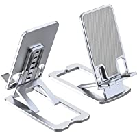 Bbtops Cell Phone Stand,Adjustable Aluminum Phone Holder Desktop Electronic Book Reader Tablet Holder Lazy Holder Live…