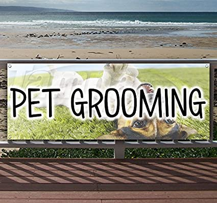 Flag, Many Sizes Available New PET Grooming 13 oz Heavy Duty Vinyl Banner Sign with Metal Grommets Advertising Store