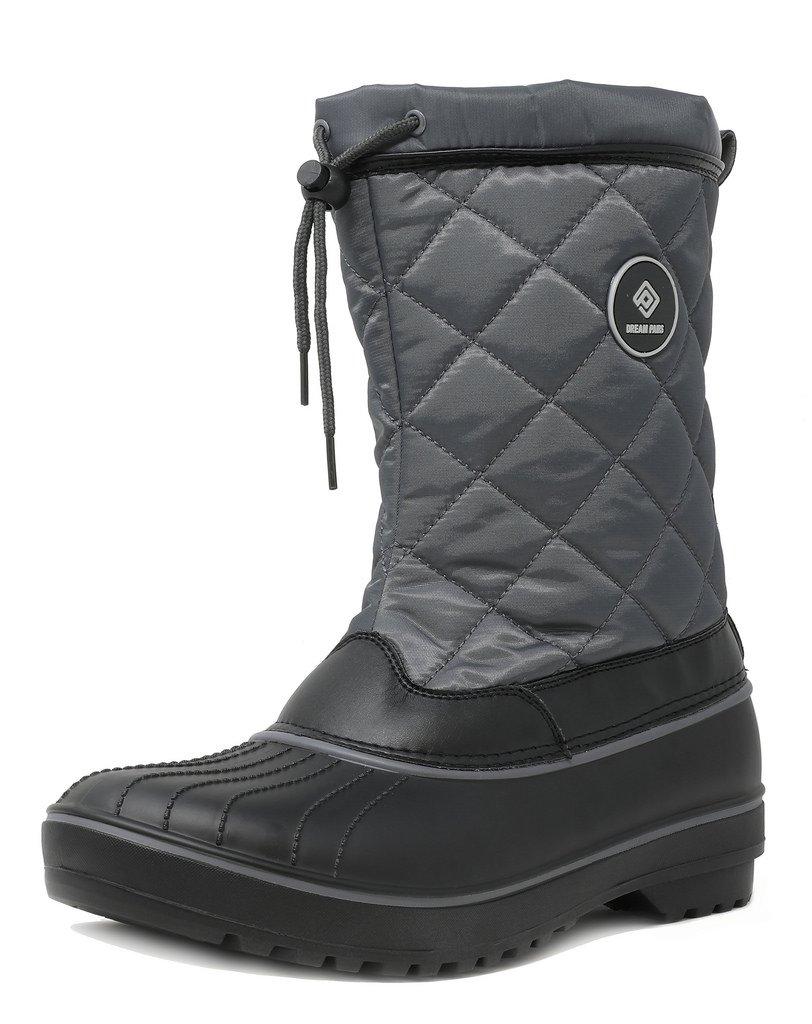 DREAM PAIRS Women's Hunter Grey Mid Calf Winter Snow Boots Size 10 M US