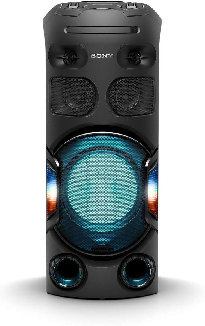 Sony MHC-V42D - sistema de audio de alta potencia (Bluetooth, sonido 360 y graves a larga distancia, luces de fiesta 360, control por voz y gestos, conectividad con smartphones, HDMI) negro