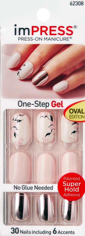 Amazon.com : Kiss imPRESS (NEXT WAVE) Oval Short Press-On Manicure ...