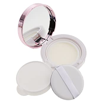 2e6c5697099d Homyl Empty Luxurious Make-up Powder Container Air Cushion Puff Case with  Sponge Powder Puff and Extra Inner Container Foundation BB Cream Box -  Pink, ...