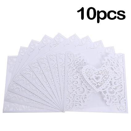 Amazon Com 10pcs Romantic Wedding Card Invitation Delicate