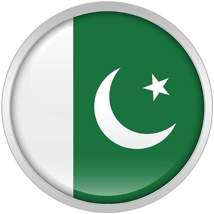 Cuerpo Caramelo Acero Inoxidable Pakistan Bandera Ajuste Tornillo Doble Borde Bujía Par 18mm: Amazon.es: Joyería