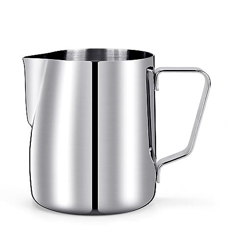 HULISEN leche Espuma Jarra, Acero Inoxidable 350ml / 12fl.oz Café Jarra de leche Jarra de leche