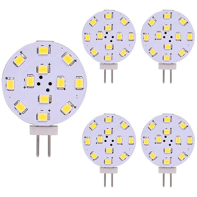 Bombilla LED G4, equivalente a 35 vatios, disco LED de dos patillas, pasador lateral JC, 12V-24V CA / CC de bajo voltaje, CRI> 85, 350 lúmenes, WeiXuan, ...