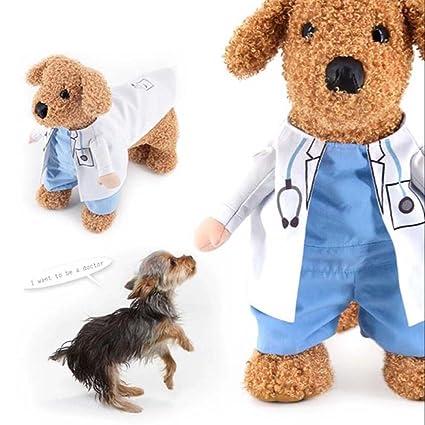 Cutogin, vestido para mascota, gato, perro, cosplay, médico, disfraz de