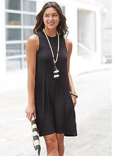 46cafc2337b2d Mud Pie Alissa Swing Large Rayon Spandex Dress in Womens Clothing Black