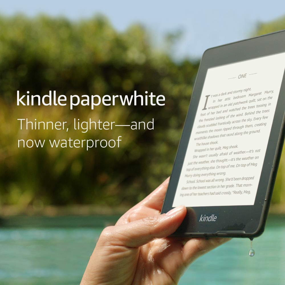 Kindle Paperwhite – Now Waterproof with 2x the Storage – Includes Special Offers [Without Kindle Unlimited]
