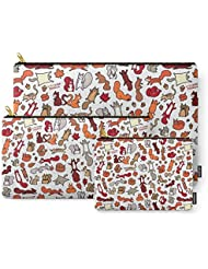 Society6 Squirrels In Fall Doodle Carry-All Pouch