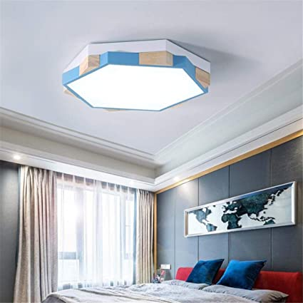 Amazon.com: ZM3 Ceiling Light Blue Children\'s Bedroom Lamp Simple ...