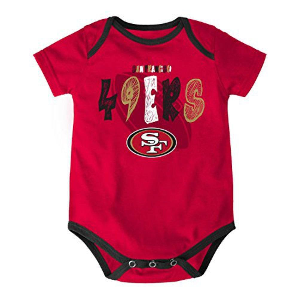 【2018A/W新作★送料無料】 San Francisco – 49ers幼児3 – 6ヶ月Onesie B06Y1248PP Footballロゴボディスーツ – Francisco レッドW/チームカラーアクセント B06Y1248PP, コシジマチ:c17cbed3 --- arianechie.dominiotemporario.com