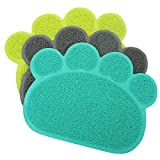Dog Puppy Paw Shape Placemat Pet Cat Dish Bowl Feeding Food PVC Mat Wipe Clean no.21 For Sale