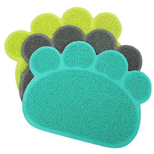 Cheap Dog Puppy Paw Shape Placemat Pet Cat Dish Bowl Feeding Food PVC Mat Wipe Clean no.21