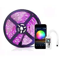Simfonio Luz LED Funciona con Alexa,Google Home, IFTTT, WiFi Tel¨¦fono Inteligente Inal¨mbrico Kit de Luz de Tira Led Controlada