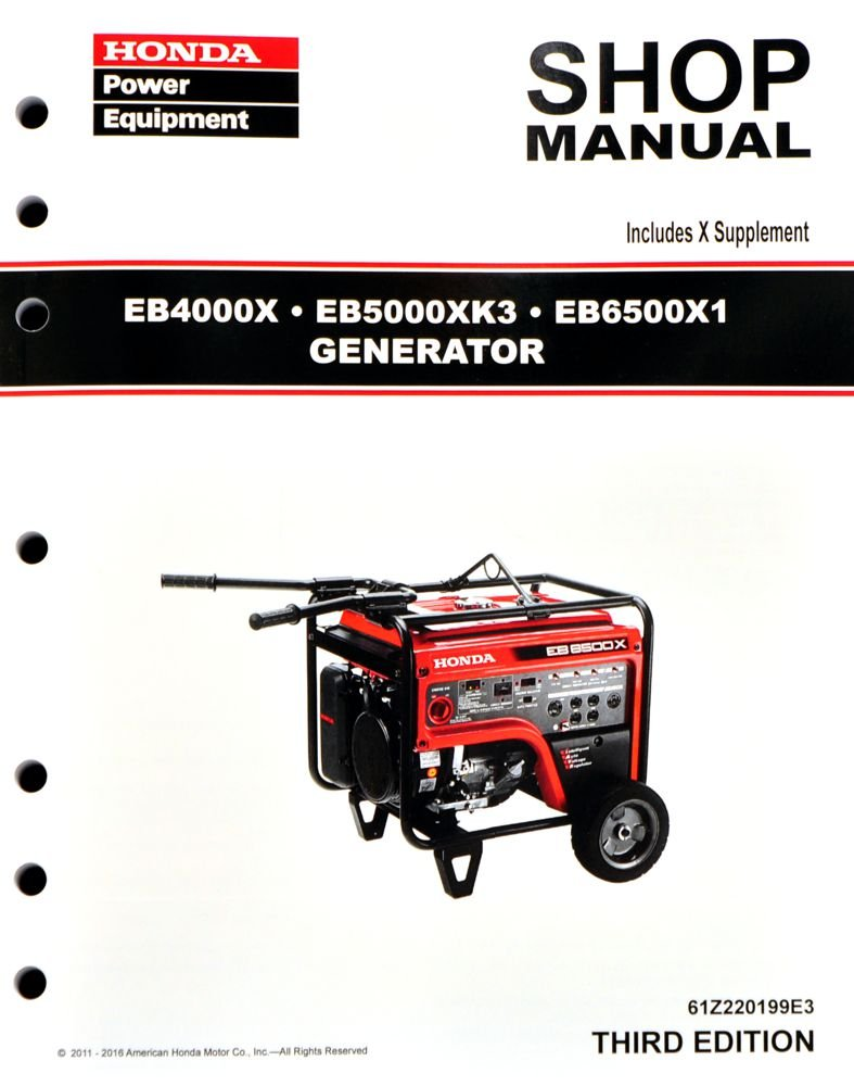 Amazon.com : Honda EB4000 EB5000 EB6500 Generator Service Repair Shop Manual  : Garden & Outdoor