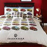 Volkswagen Beetles Double/US Full Duvet Cover and Pillowcase Set