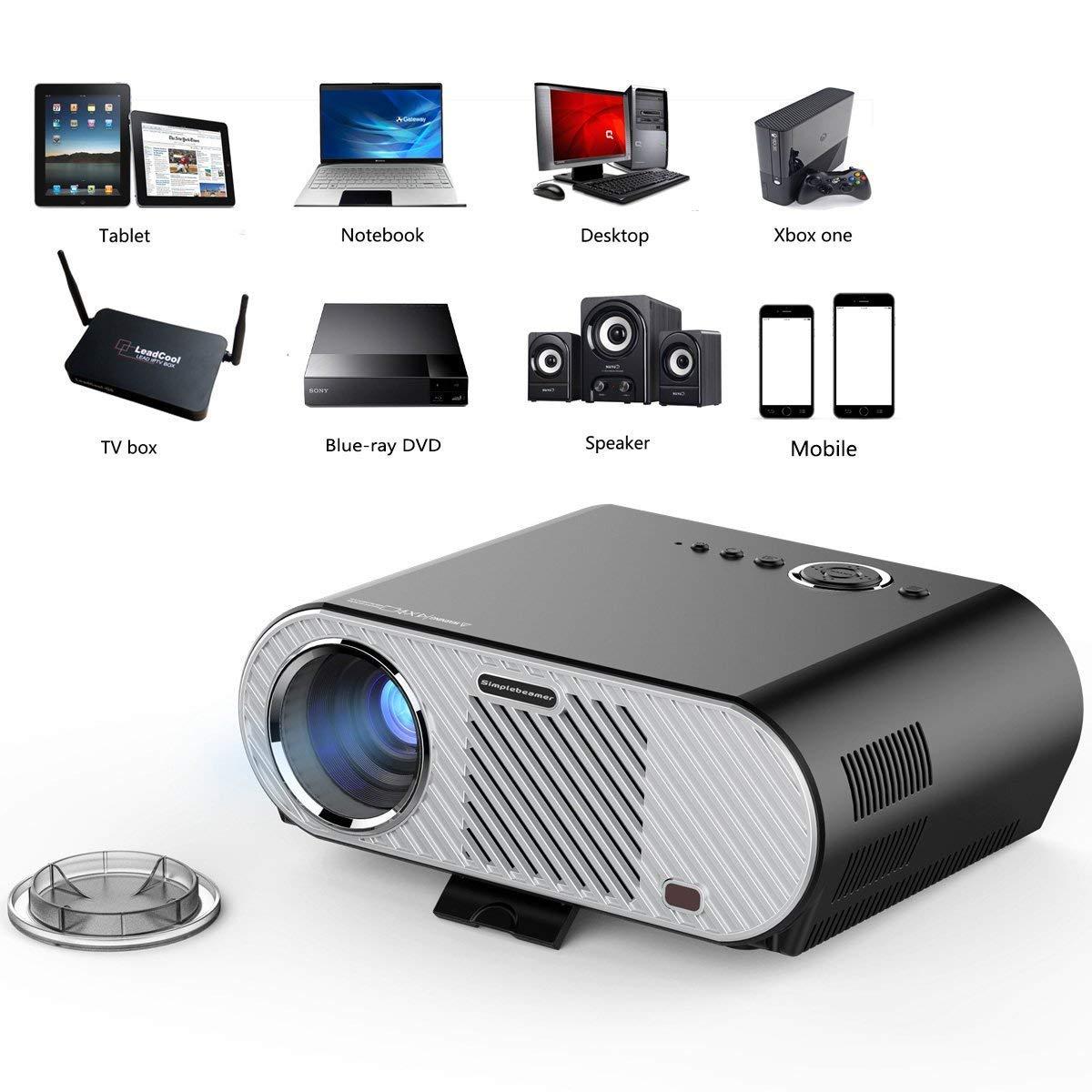 TQTQ Clover Portable HD Multimedia Video Proyector 1280 X 720 ...