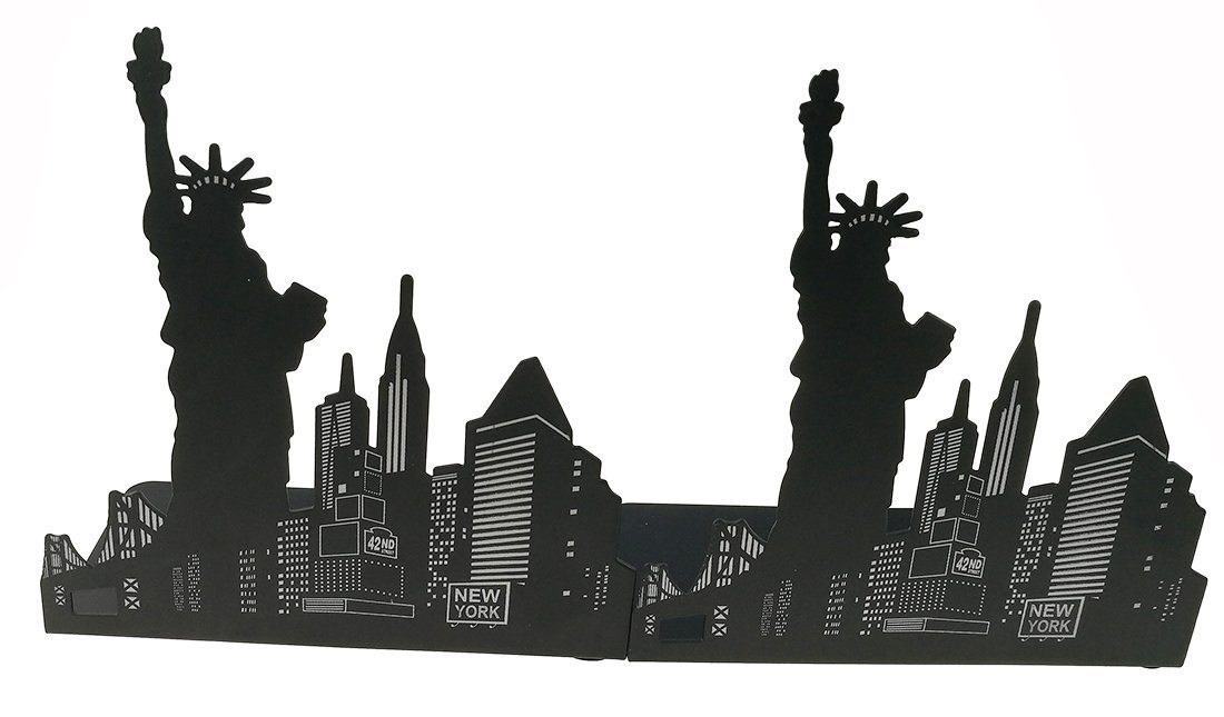 Fancyus New York Statue of Liberty Nonskid Bookends