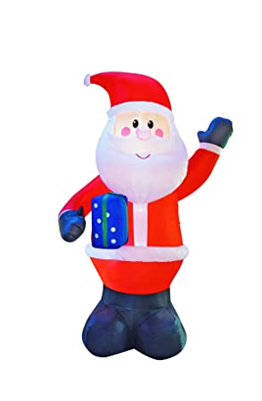 Christmas Inflatables.Jf Deco 3m Decorations Christmas Inflatables Santa Claus With Gift Box Inflatable Decoration Outdoors