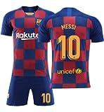メッシ サッカーユニフォーム 19-20 FCバルセロナ アウェイ 背番号10 レプリカサッカーユニフォーム 子供用 大人用 上下セット …