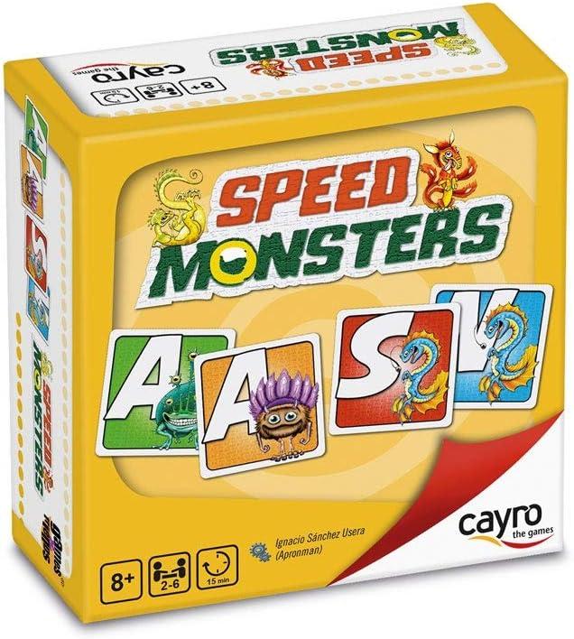 Cayro - Speed Monsters - Juego Palabras y Desarrollo lingüístico - Juego de Mesa - Desarrollo de Memoria y expresión Verbal y comunicación - Juego de Mesa (7018): Amazon.es: Juguetes y juegos