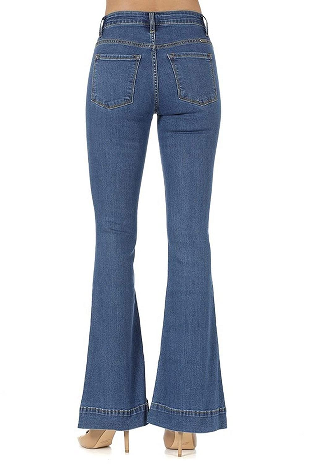 3ff94067033 KanCan Women s High Rise Flared Jeans KC8411 at Amazon Women s Jeans store