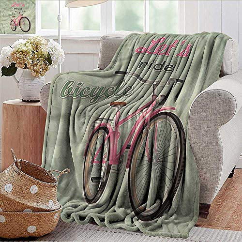 Xaviera Doherty Summer Blanket Bicycle,Retro Pop Art Bike Weighted Blanket for Adults Kids, Better Deeper Sleep 35