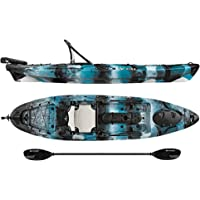 Vibe Kayaks Sea Ghost 110 11 Foot Angler Sit On Top Fishing Kayak Paddle Dual Position Hero Seat Rudder System Included