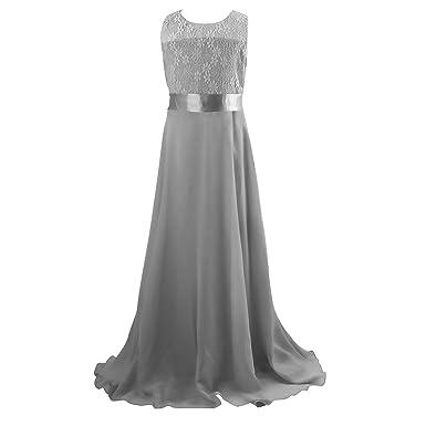 4badd5384 Floor Length Dress, Acecharming Big Girls Lace Chiffon Dress Wedding  Bridesmaid Dress Dance Party Gown