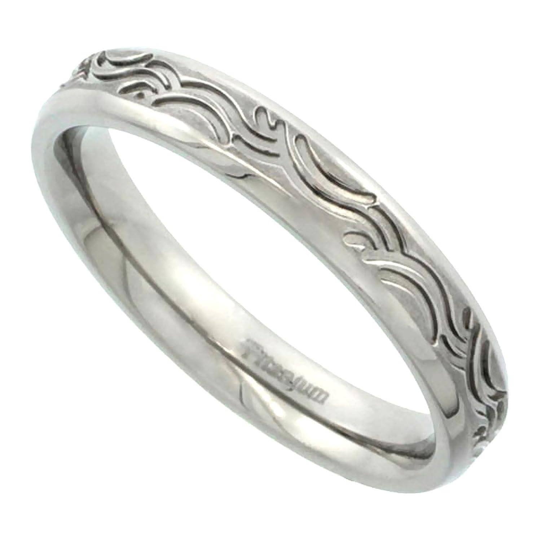 Titanium 4mm Wedding Band Ring Wave Pattern Brushed Finish Flat Fort Fit Sizes 5 14 Amazon: Wave Pattern Wedding Ring I Do At Websimilar.org