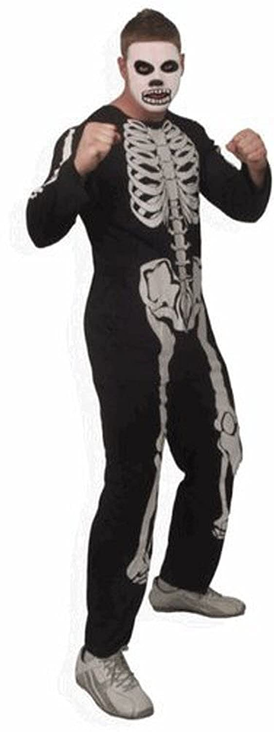 Amazon.com: The Karate Kid Cobra Kai Skeleton Mens Costume: Clothing