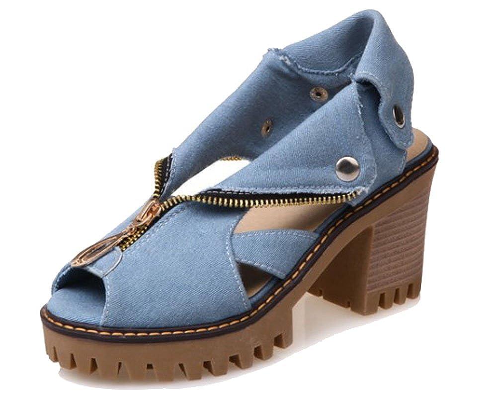 HiTime Bleu, Bleu Bout Ouvert Femme - Bleu - Bleu, 36.5 - - 3ed4441 - reprogrammed.space