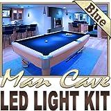 Biltek 16.4' ft Blue Bar Liquor Cabinet Wine Cellar LED Backlight Accent On/Off Switch Kit 100V Plug - Sports Memorabilia Bar Theatre Room Liquor Cabinet Wine Cellar Dart Board Waterproof 110V-220V