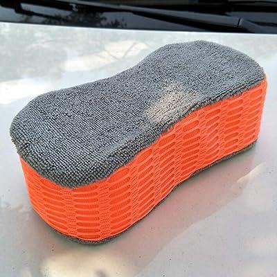 3pcs éponge de lavage de voiture propre bloc de voiture absorbant haute densité très grande taille lavant Cellulous Microfibre super absorbant multi-usage éponge de nettoyage multi-fonctionnel, Red