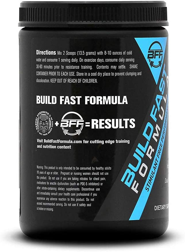 VASOBLITZ Award Winning Dual Nitric Oxide Pre Workout with NO3T Arginine Nitrate,L-Citrulline,Betaine Anhydrous,Calcium Lactate,Caffeine Free for Muscular Endurance 30 Serving, Blue Raspberry