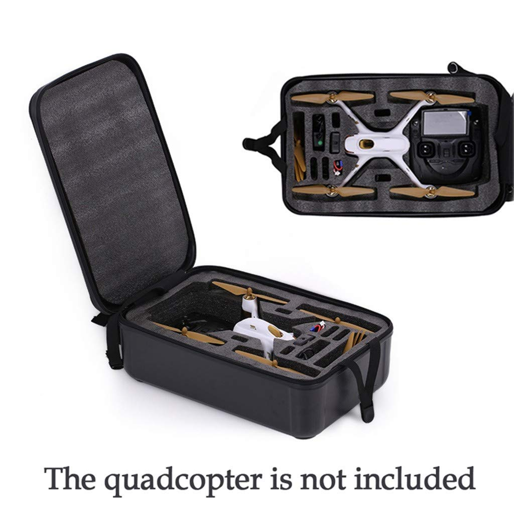 DDLmax Black ABS Hard Shell Backpack Case Bag for Hubsan H501S Quadcopter by DDLmax (Image #8)