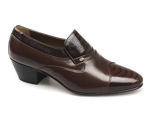 minorista online venta caliente real ropa deportiva de alto rendimiento Shuperb Kiko para Hombre con tacón Cubano Zapatos de Piel de ...