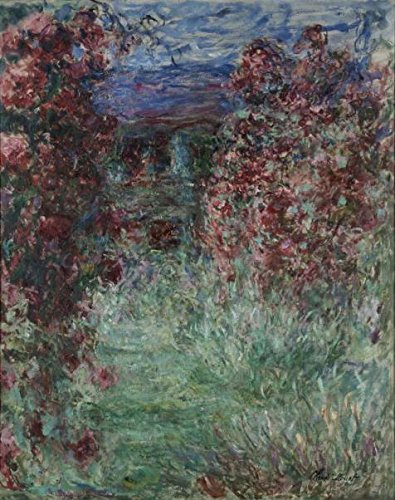 Oil Painting 'The House Among The Roses, 1925-1926 By Claude Monet' Printing On Perfect Effect Canvas , 12x15 Inch / 30x39 Cm ,the Best Bar Decoration And Home Gallery Art And Gifts Is This Replica Art DecorativePrints On Canvas - Lightning Returns Pre Order Costumes