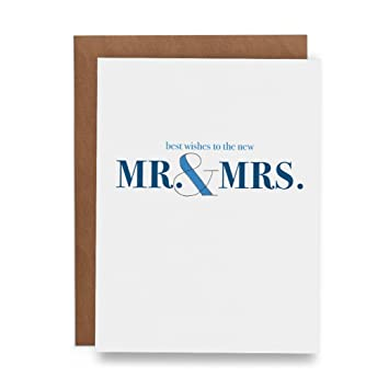 Amazon Com Best Wishes To The New Mr Mrs Wedding Greeting