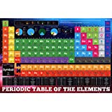 Posters: School Poster - Periodic Table Of The Elements (36 x 24 inches)
